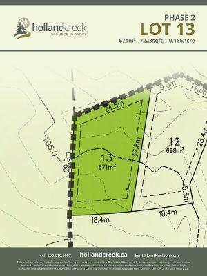 Holland Creek Development PHASE 2 Lotplan13