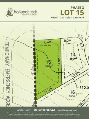 Holland Creek Development PHASE 2 Lotplan15