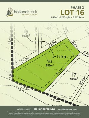 Holland Creek Development PHASE 2 Lotplan16
