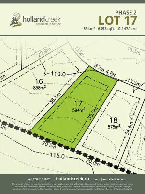 Holland Creek Development PHASE 2 Lotplan17