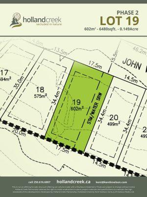 Holland Creek Development PHASE 2 Lotplan19