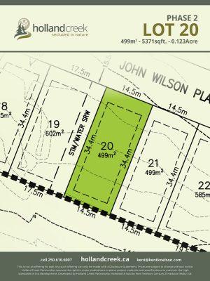 Holland Creek Development PHASE 2 Lotplan20
