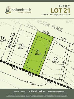 Holland Creek Development PHASE 2 Lotplan21