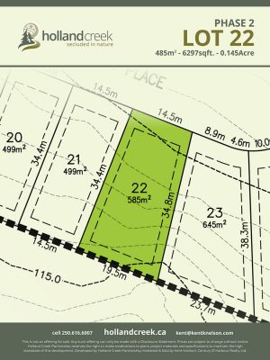 Holland Creek Development PHASE 2 Lotplan22