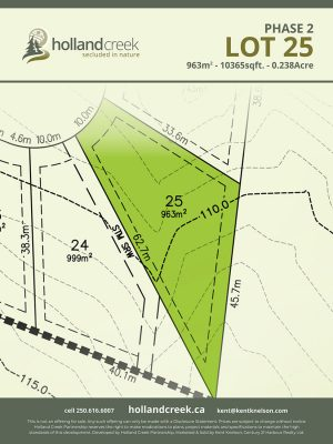 Holland Creek Development PHASE 2 Lotplan25