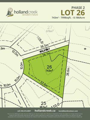 Holland Creek Development PHASE 2 Lotplan26