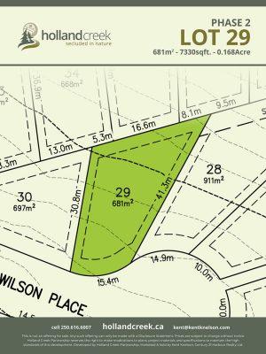 Holland Creek Development PHASE 2 Lotplan29