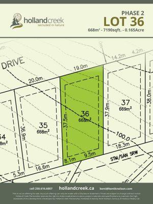 Holland Creek Development PHASE 2 Lotplan36