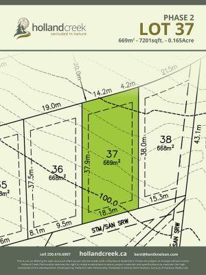 Holland Creek Development PHASE 2 Lotplan37