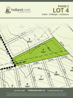 Holland Creek Development PHASE 2 Lotplan4