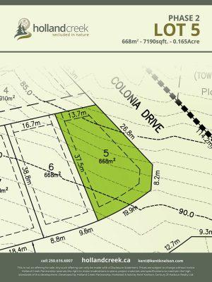 Holland Creek Development PHASE 2 Lotplan5