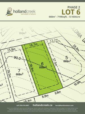 Holland Creek Development PHASE 2 Lotplan6