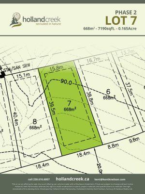 Holland Creek Development PHASE 2 Lotplan7