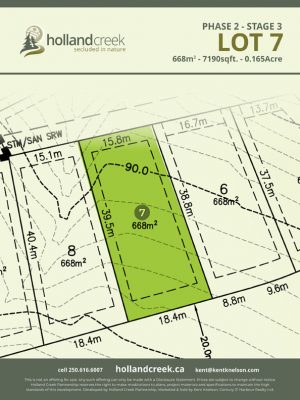 Holland Creek Development STAGE 3 Lot7