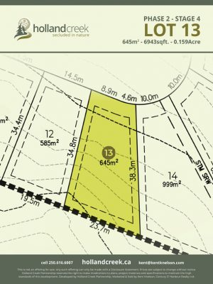 Holland Creek Development STAGE 4 Lot13