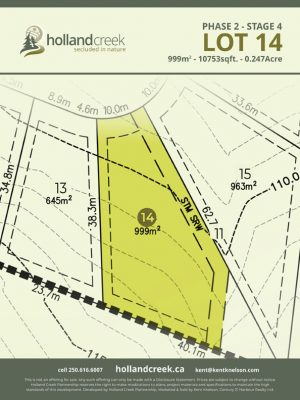 Holland Creek Development STAGE 4 Lot14