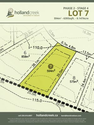 Holland Creek Development STAGE 4 Lot7
